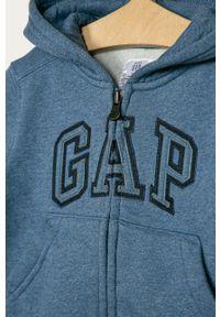 Niebieska bluza rozpinana GAP na co dzień, casualowa