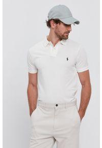 Polo Ralph Lauren - Polo. Typ kołnierza: polo. Kolor: biały. Materiał: dzianina. Długość: krótkie. Wzór: gładki