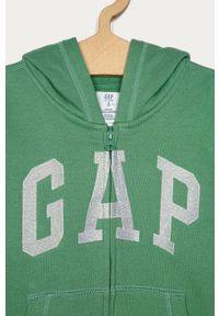 Zielona bluza rozpinana GAP na co dzień, z nadrukiem, casualowa