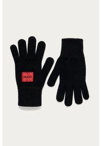 Czarne rękawiczki Hugo melanż