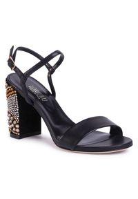 Czarne sandały Loriblu