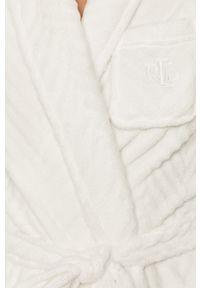 Biały szlafrok Lauren Ralph Lauren