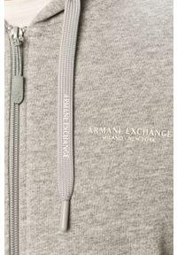 Szara bluza rozpinana Armani Exchange na co dzień, casualowa