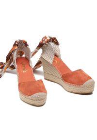 Pomarańczowe sandały Vidorreta na co dzień, casualowe