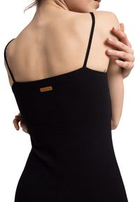 LaLupa - Sukienka na ramiączkach z bawełnianej dzianiny. Materiał: dzianina, bawełna. Długość rękawa: na ramiączkach