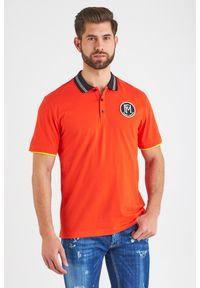 Koszulka polo Frankie Morello polo, sportowa, w jednolite wzory