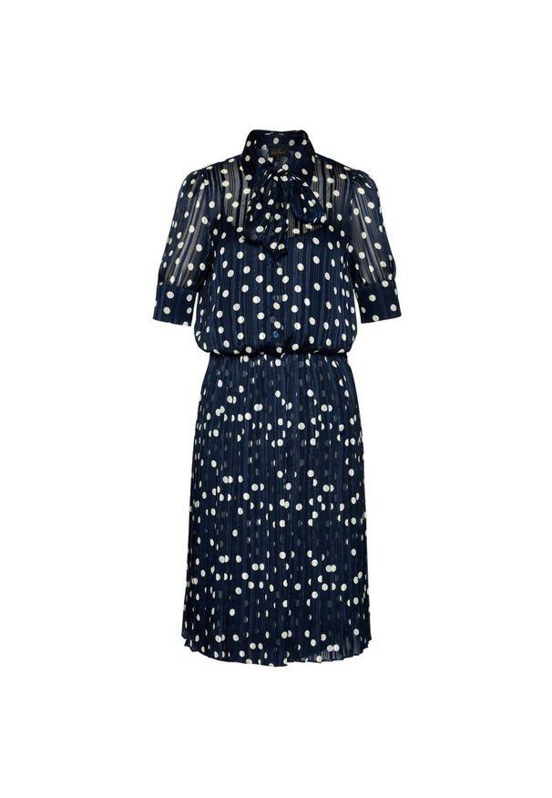 Niebieska sukienka Luisa Spagnoli prosta, casualowa, na co dzień