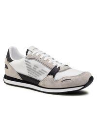 Emporio Armani - Sneakersy EMPORIO ARMANI - X4X537 XM678 N638 Plast/Blk/Op.Wht/Blk. Okazja: na co dzień. Kolor: biały. Materiał: materiał, zamsz. Szerokość cholewki: normalna. Styl: elegancki, casual