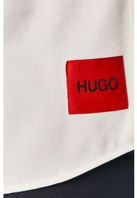 Biała koszula Hugo krótka, z krótkim rękawem, casualowa