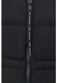 Armani Exchange - Kurtka. Okazja: na co dzień. Kolor: czarny. Materiał: puch, futro, materiał. Wzór: gładki. Styl: casual