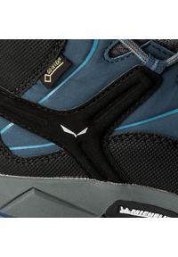 Niebieskie buty zimowe Salewa młodzieżowe, z cholewką