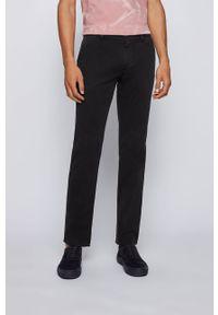 Czarne spodnie BOSS gładkie