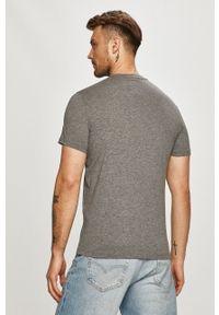 Armani Exchange - T-shirt. Okazja: na co dzień. Kolor: szary. Wzór: nadruk. Styl: casual