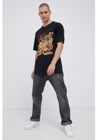 Vans - T-shirt bawełniany Off The Wall Gallery, Dwinky Ka. Okazja: na co dzień. Kolor: czarny. Materiał: bawełna. Wzór: nadruk. Styl: casual