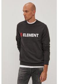 Element - Bluza bawełniana. Okazja: na co dzień. Kolor: szary. Materiał: bawełna. Wzór: nadruk. Styl: casual