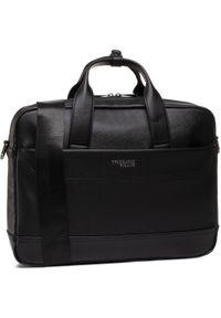 Czarna torba na laptopa Trussardi Jeans