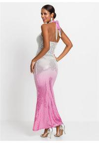 Różowa sukienka bonprix maxi