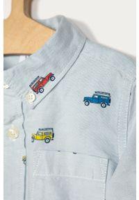 Niebieska koszula GAP na co dzień, casualowa, z długim rękawem, długa