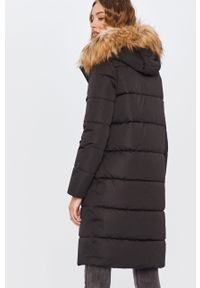 Czarny płaszcz ANSWEAR z kapturem, wakacyjny, na co dzień