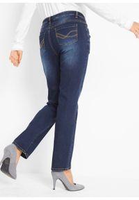 Czarne jeansy bonprix z haftami