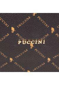 Brązowa torebka klasyczna Puccini klasyczna