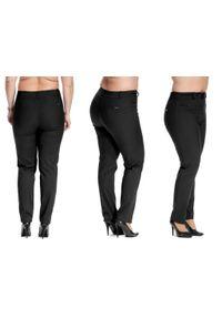 Czarne spodnie Moda Size Plus Iwanek plus size, casualowe, na co dzień
