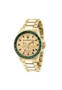 Złoty zegarek Maserati