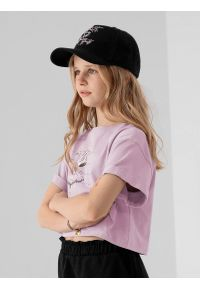 4f - Czapka z daszkiem strapback dziewczęca. Kolor: czarny