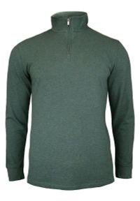 Zielony t-shirt Chiao z długim rękawem, długi
