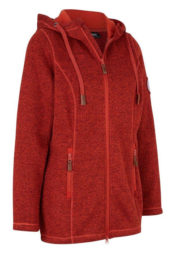 Czerwona bluza bonprix z długim rękawem, długa