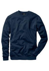 Niebieska bluza bonprix z okrągłym kołnierzem