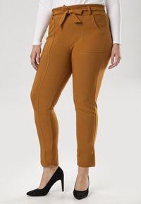 Żółte spodnie materiałowe Born2be