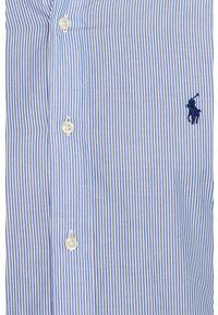 Niebieska koszula Polo Ralph Lauren długa, na co dzień, polo