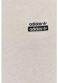 adidas Originals - Spodnie. Kolor: beżowy. Materiał: dzianina. Wzór: gładki