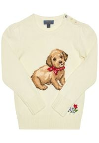 Biały sweter Polo Ralph Lauren polo