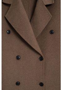 Brązowy płaszcz mango klasyczny, bez kaptura
