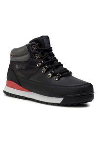 Czarne buty trekkingowe Big-Star trekkingowe, z cholewką