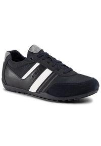Niebieskie sneakersy Geox z cholewką
