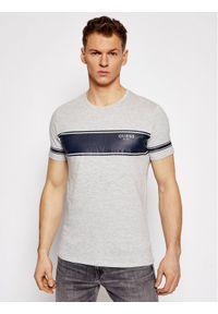 Guess T-Shirt Placed Print M1RI56 K8HM0 Szary Slim Fit. Kolor: szary. Wzór: nadruk