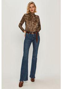 Guess Jeans - Koszula. Okazja: na co dzień. Materiał: jeans. Długość rękawa: długi rękaw. Długość: długie. Wzór: gładki. Styl: casual