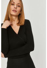 Czarny sweter Answear Lab długi, wakacyjny