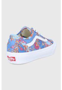 Vans - Tenisówki x LIBERTY. Nosek buta: okrągły. Zapięcie: sznurówki. Kolor: niebieski. Materiał: guma