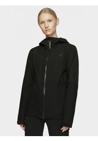 Czarna kurtka przeciwdeszczowa 4f ze stójką