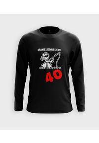 MegaKoszulki - Koszulka męska z dł. rękawem Branie zaczyna się po 40. Materiał: bawełna