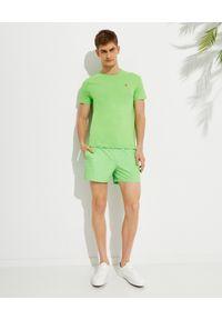 Ralph Lauren - RALPH LAUREN - Zielone spodenki kąpielowe Traveler. Kolor: zielony. Materiał: materiał. Wzór: haft, aplikacja
