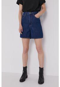 Lee - Szorty jeansowe. Okazja: na co dzień. Kolor: niebieski. Materiał: jeans. Wzór: gładki. Styl: casual