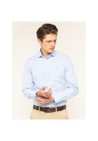 Niebieska koszula Tommy Hilfiger Tailored z nadrukiem