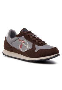 Trussardi Jeans Sneakersy 77A00282 Brązowy. Kolor: brązowy