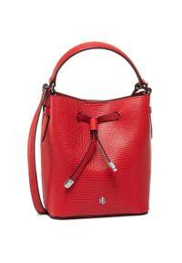 Czerwona torebka worek Lauren Ralph Lauren