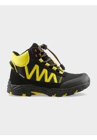 Czarne buty zimowe 4f na zimę, na co dzień, z cholewką, casualowe